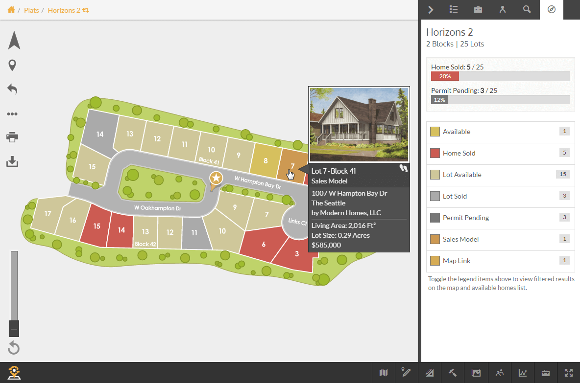 PlatWidget - Map View Hovering