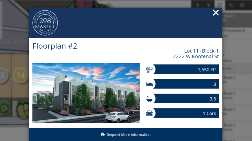 Interactive Plat Map: Kootenai Townhomes
